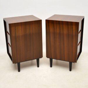 pair of vintage walnut bedside chests john sylvia reid for stag c range