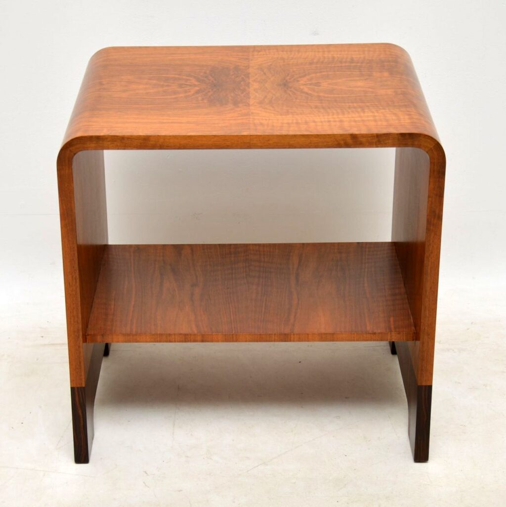 art deco rosewood and walnut coffee table