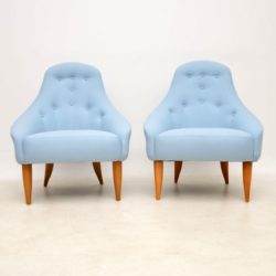 pair of vintage armchairs paradiset by kerstin horlin holmquist