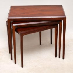 danish rosewood vintage nest of tables by johannes andersen
