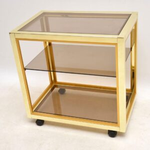 1970's Vintage Italian Brass Trolley by Zevi