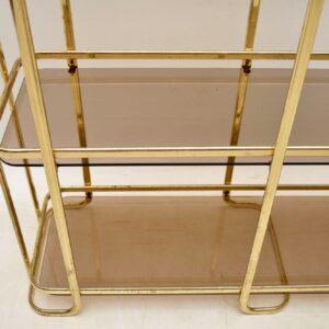 1970's Vintage Italian Brass Side Table / Cabinet