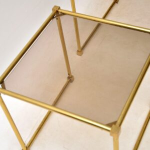 1970's Italian Vintage Brass Nest of Tables