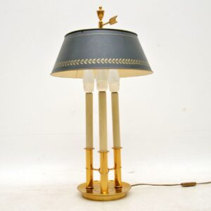 vintage french brass lamp