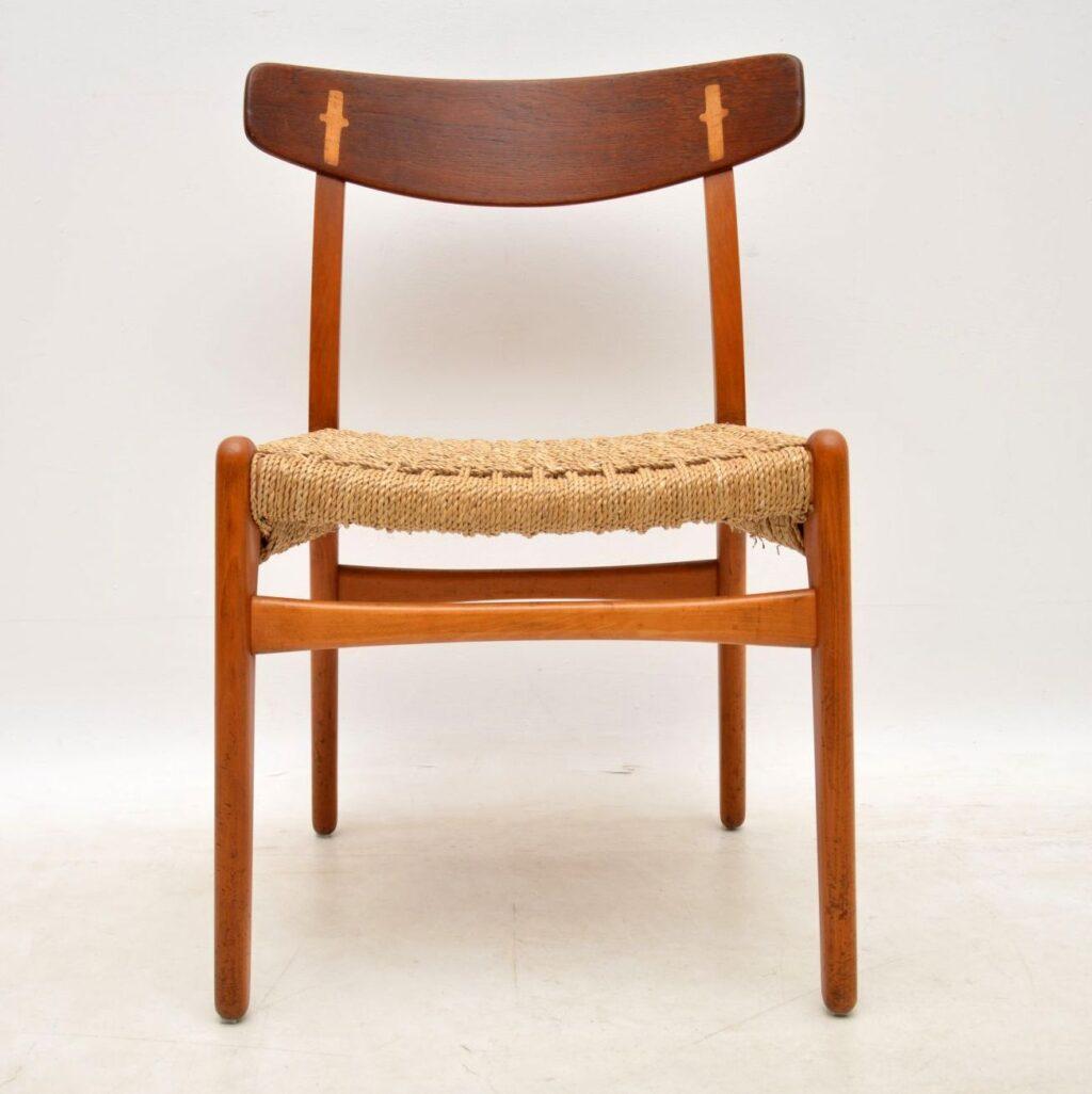 vintage danish ch-23 chair by hans wegner carl hansen