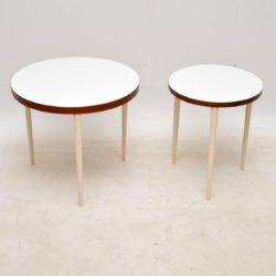 1960's Pair of Circular Nesting Side Tables