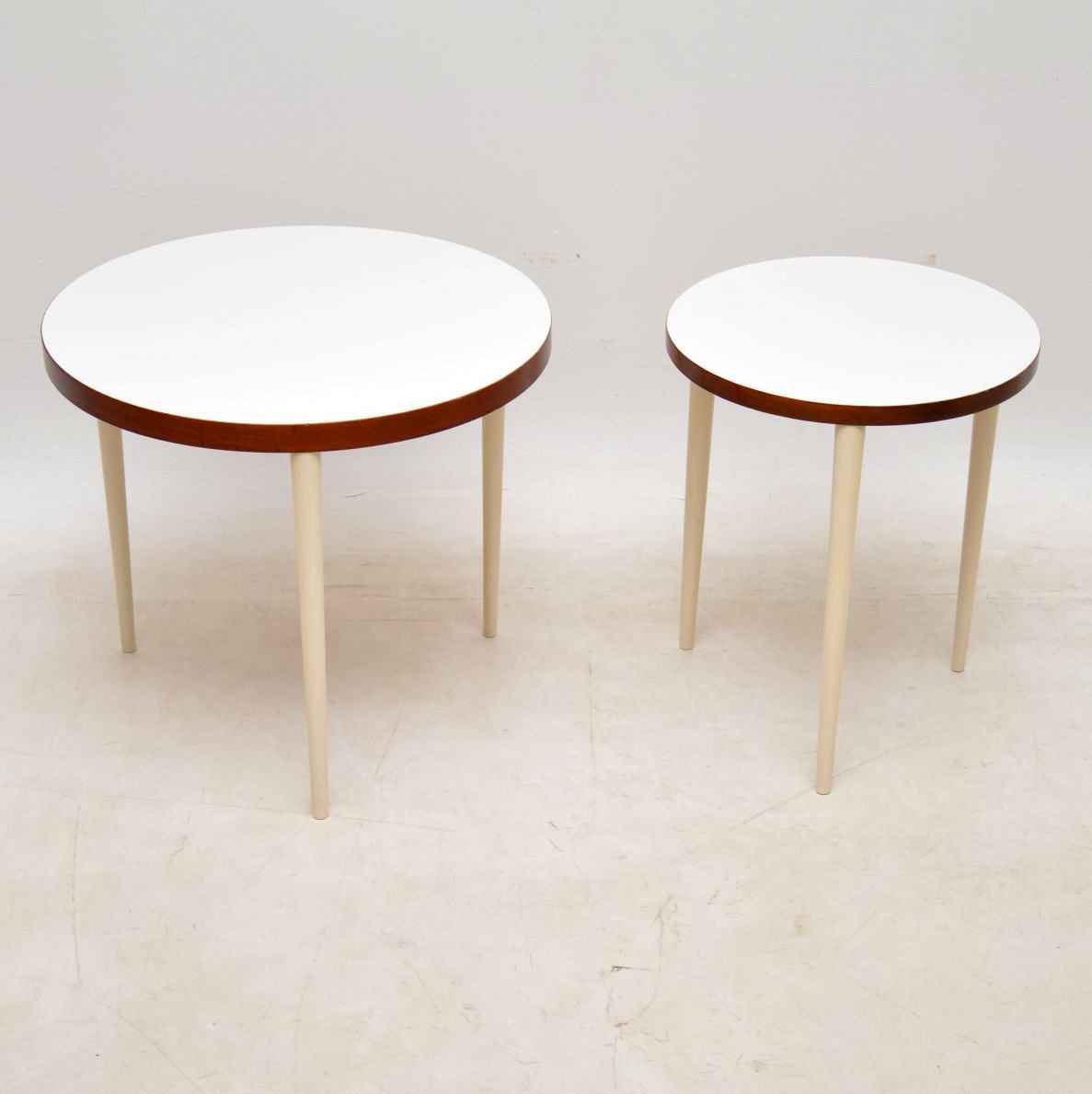 pair of vintage nesting side tables coffee table
