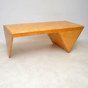 1970's Vintage Danish Desk & Chair by Klaus Wettergren in Burr Maple