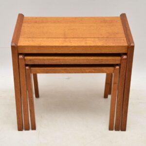 1950s vintage oak nest of tables