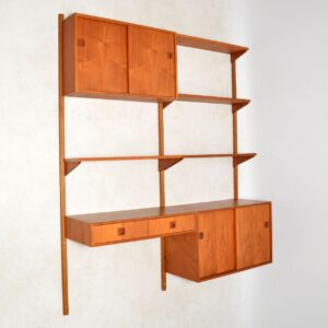 danish teak vintage ps royal shelving system cabinet bookcase