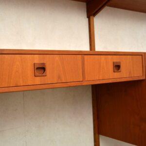 1960's Vintage Danish PS Wall Unit / Bookcase / Cabinet / Desk