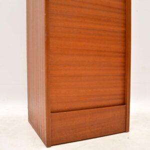 danish teak vintage filing cabinet chest