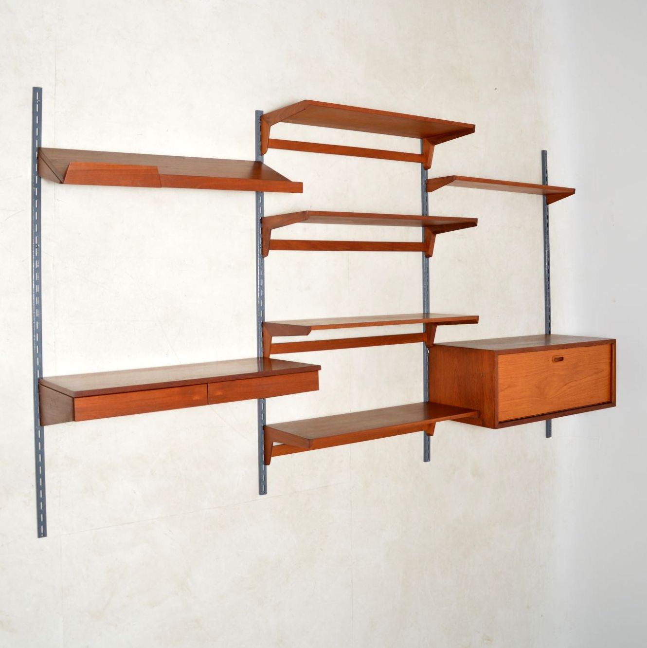danish teak wall unit bookcase desk kai kristiansen