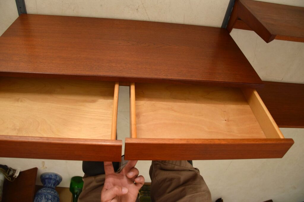 danish teak wall unit bookcase desk kai kristiansen
