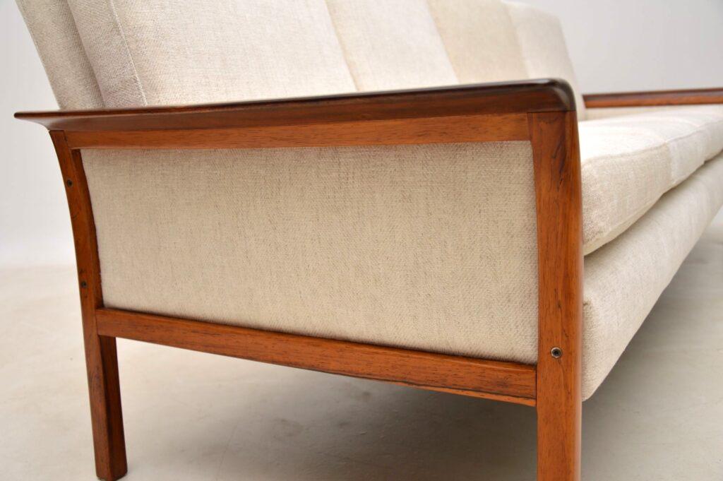 vintage danish scandinavian rosewood sofa vatne mobler knut saeter