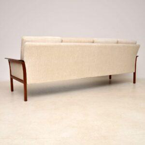 1960's Scandinavian Rosewood Sofa by Knut Saeter for Vatne Mobler