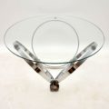 1970's Chrome & Glass Coffee Table by Knut Hesterberg