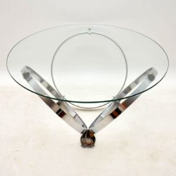 vintage retro chrome coffee table knut hesterberg