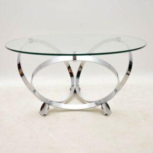 vintage retro chrome coffee table knut hesterberg