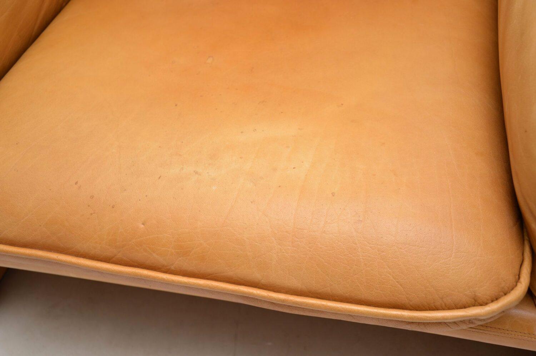 pair of vintage leather armchairs de sede ds16