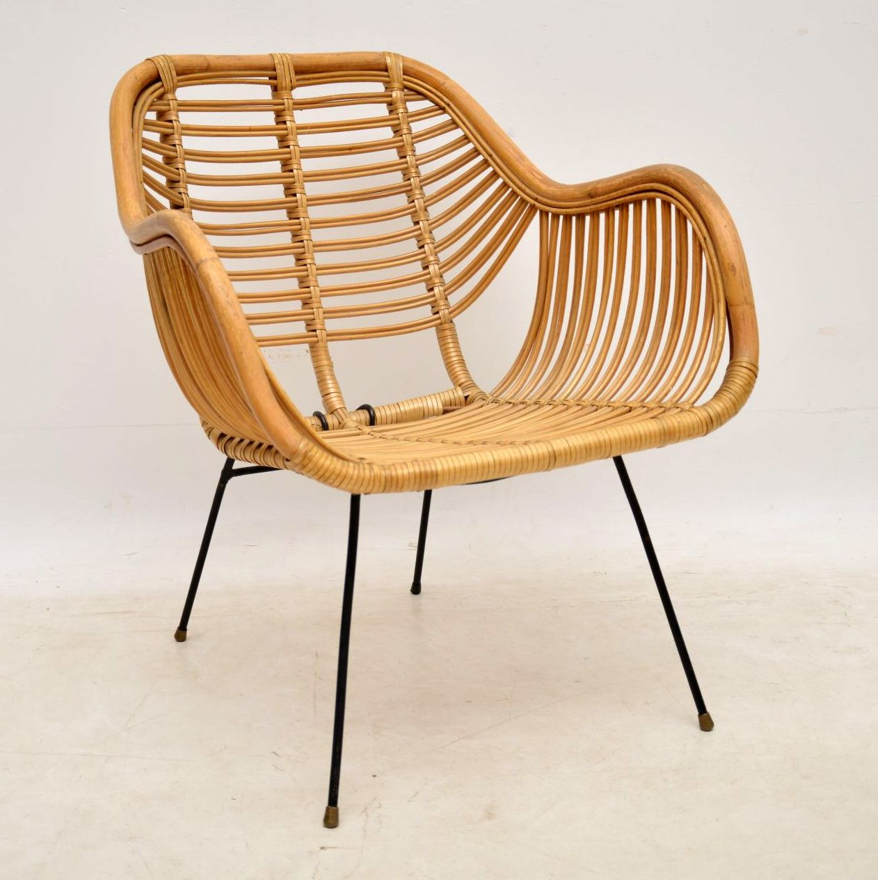 Outstanding 1960S Vintage Danish Rattan Armchair Retrospective Download Free Architecture Designs Salvmadebymaigaardcom