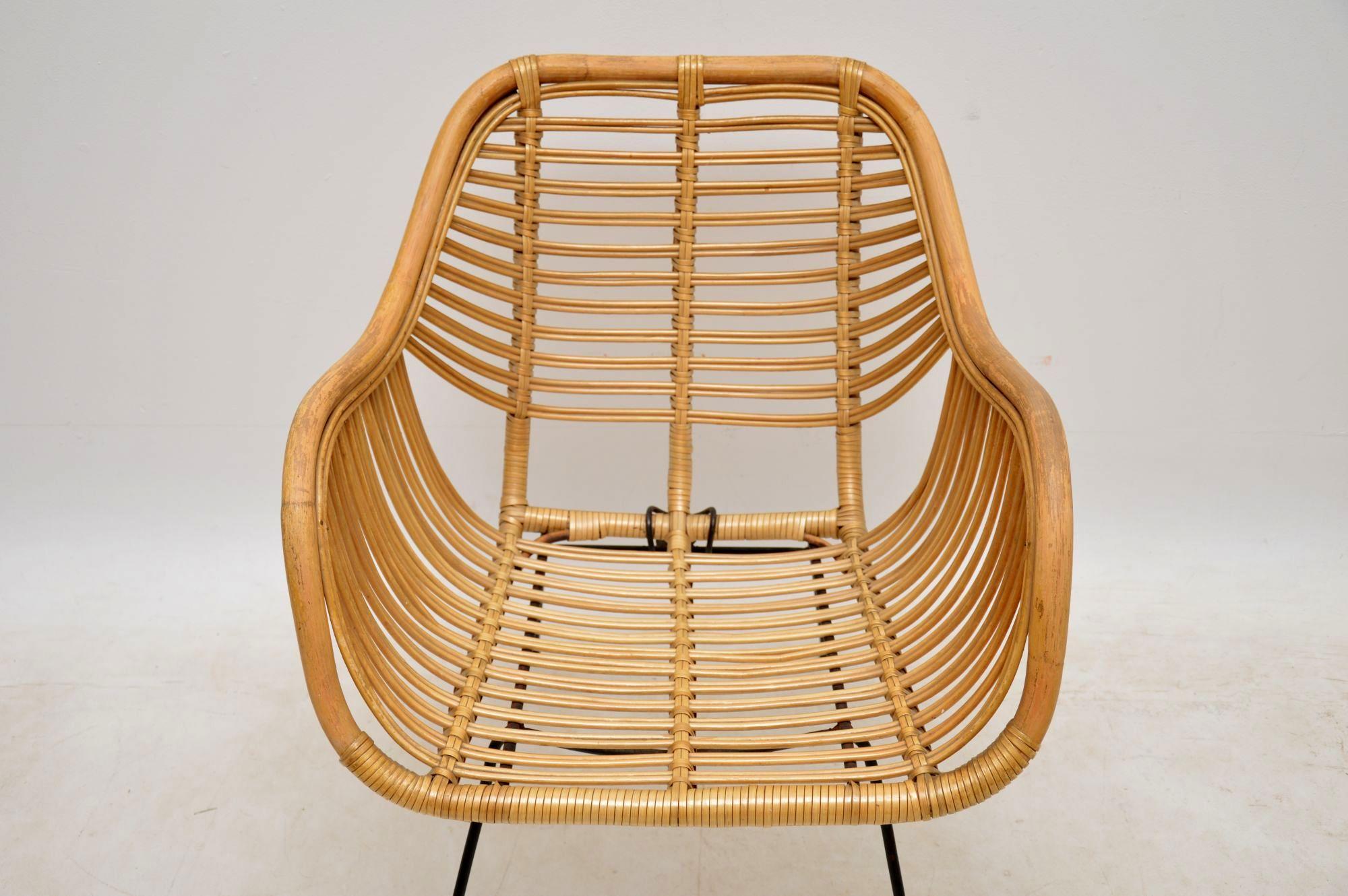 1960 S Vintage Danish Rattan Armchair Retrospective