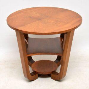 art deco walnut coffee table