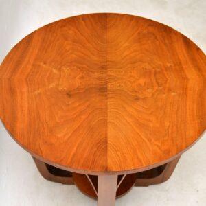 1920's Vintage Walnut Art Deco Coffee Table