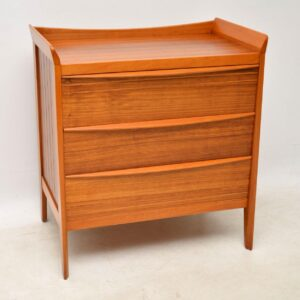 vintage walnut midcentury chest of drawers