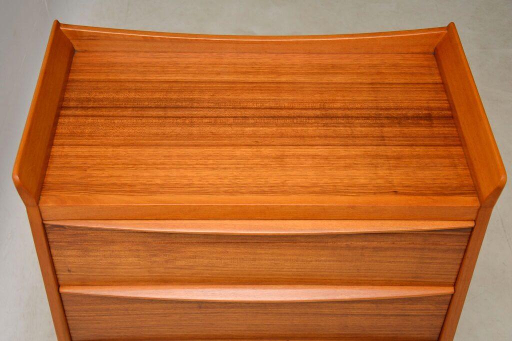 vintage walnut midcentury chest of drawers