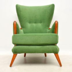 howard keith vintage wing back armchair
