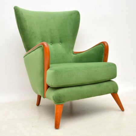 1950's Vintage Wing Back Armchair by Howard Keith