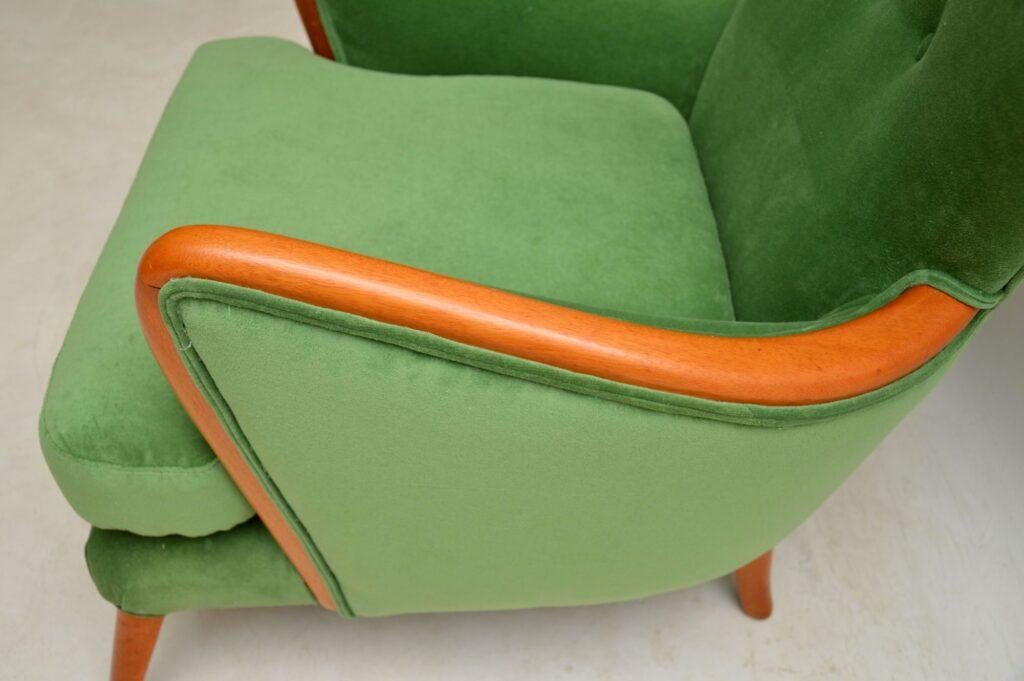 howard keith vintage wing back armchair