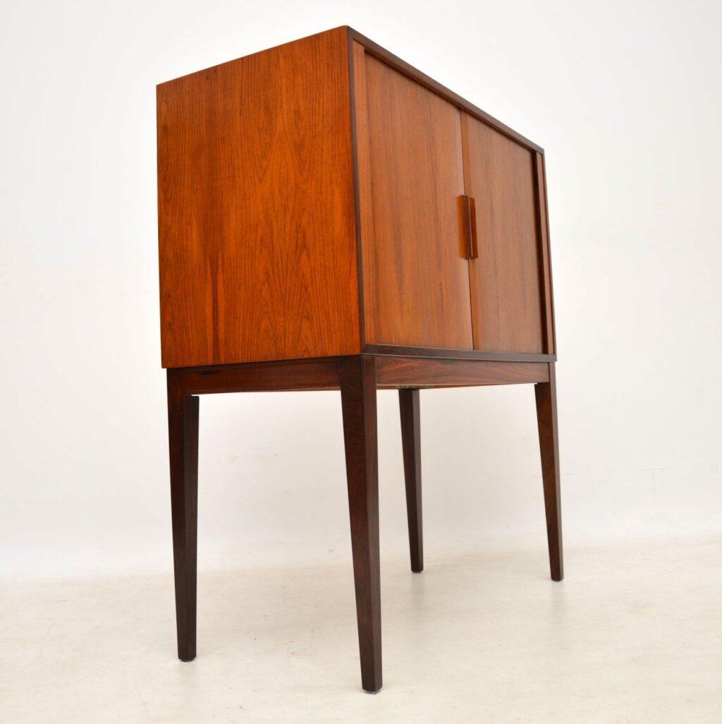 vintage danish rosewood drinks cabinet