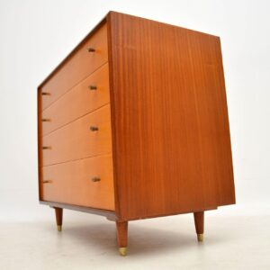 vintage satinwood chest of drawers by white and newton