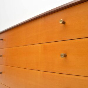 1950's Vintage Satinwood Chest of Drawers by White & Newton