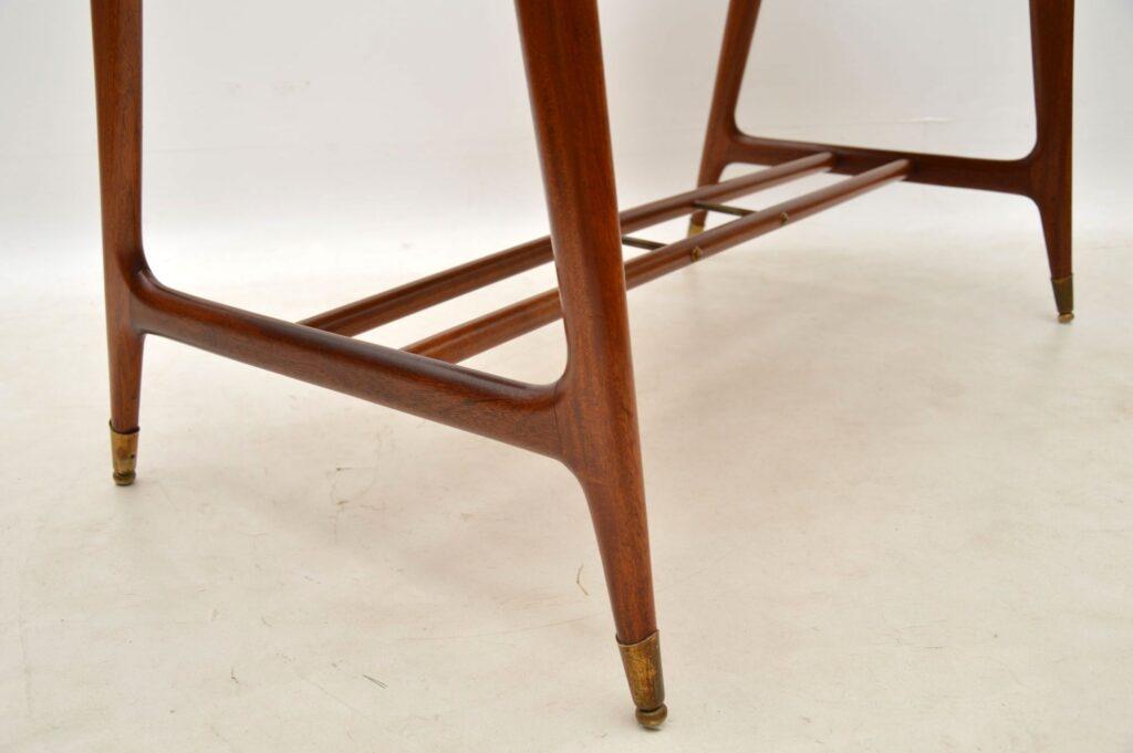 vintage italian mahogany desk gio ponti