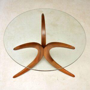 1960's Vintage Danish Teak & Glass Coffee Table