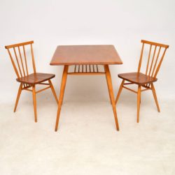 1960's Vintage Ercol Elm Dining Table & Chairs