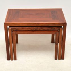 vintage danish rosewood nest of tables