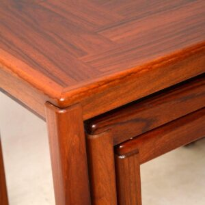 1960's Danish Rosewood Nest of Tables by Vejle Stole