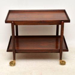 vintage danish rosewood drinks trolley by poul hundevad