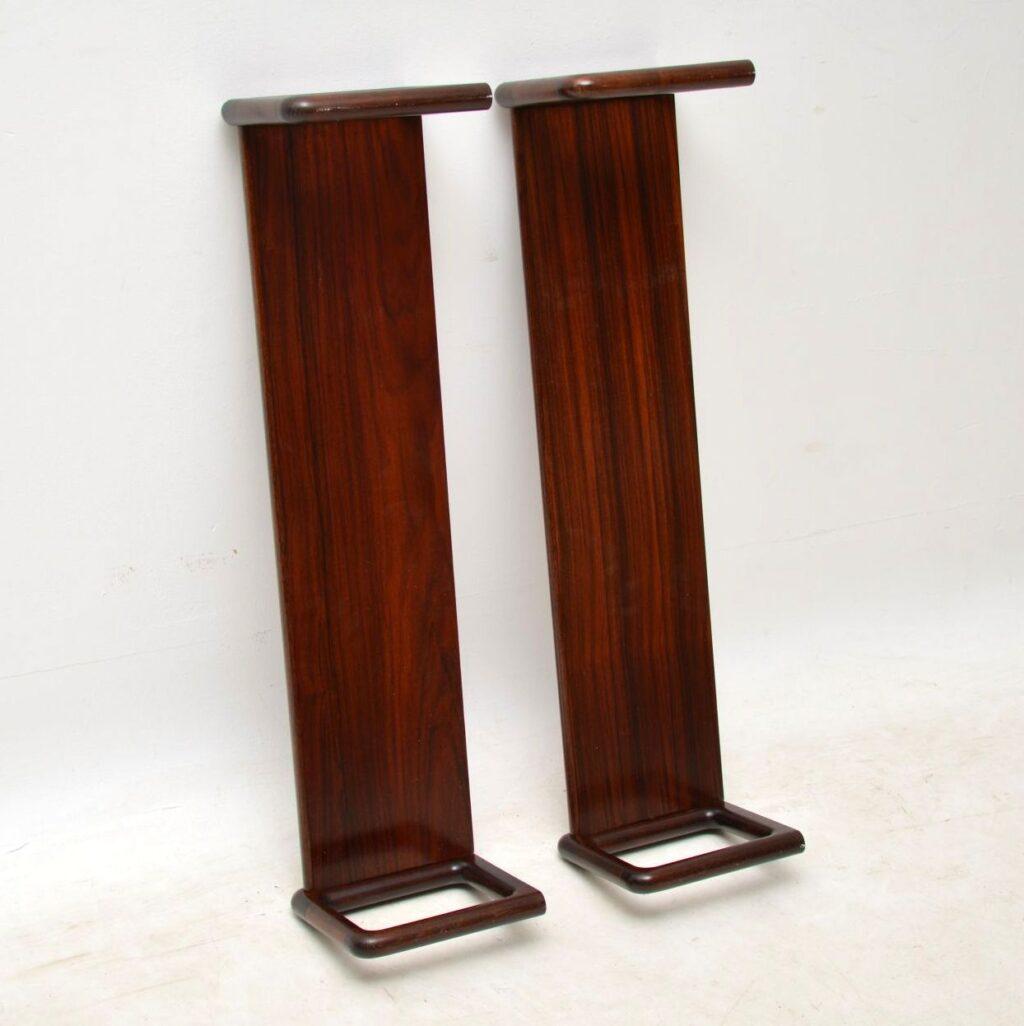pair of danish vintage rosewood bookshelves