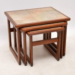 1970's Vintage Danish Teak Nest of Tables