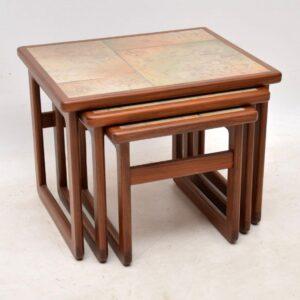 vintage danish teak nest of tables