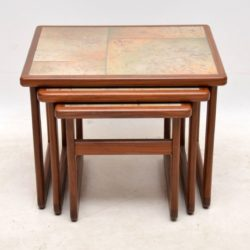 vintage danish teak nest of tables