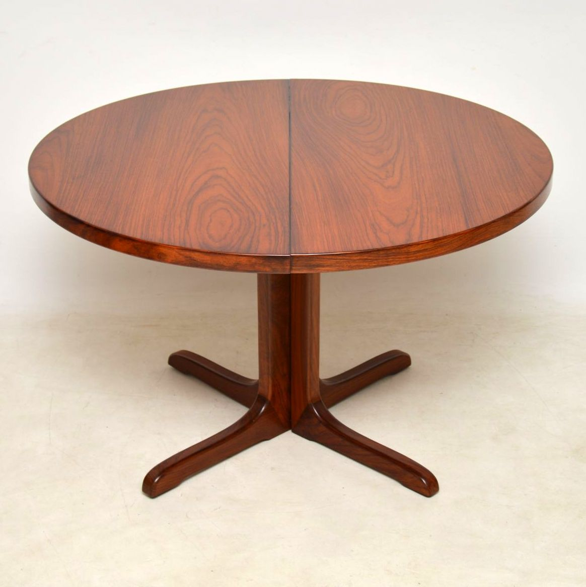 danish vintage rosewood extending dining table