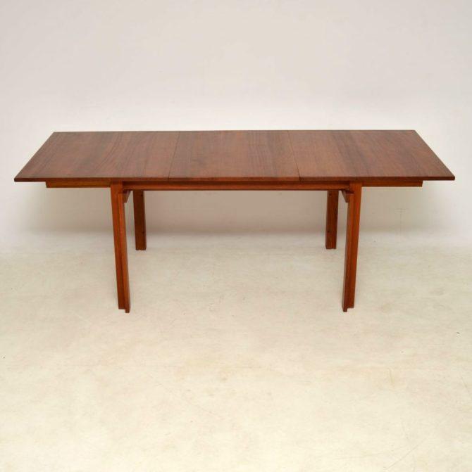danish teak vintage dining table inger klingenberg