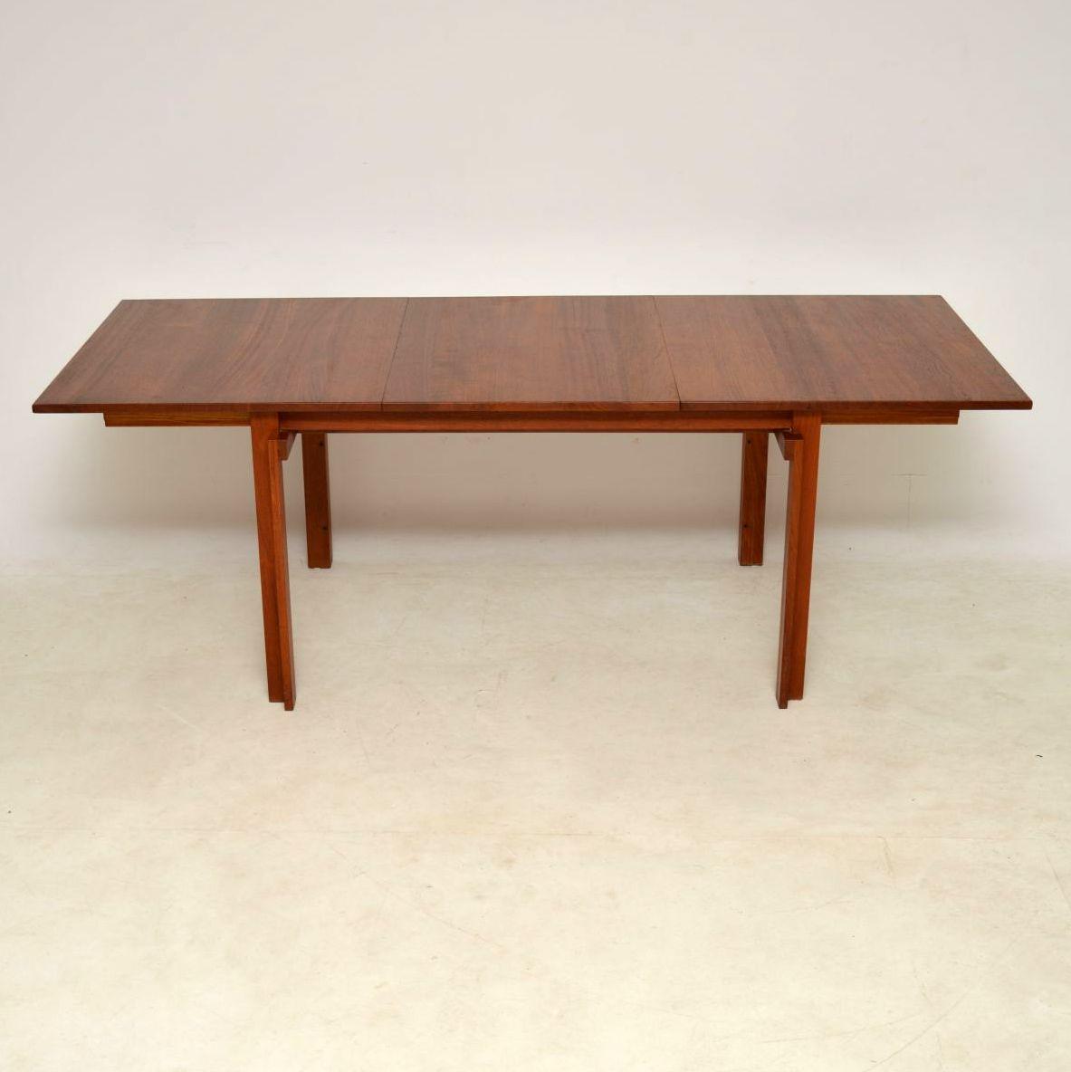 ... 1960u0027s Vintage Danish Teak Dining Table By Inger Klingenberg For France  ...