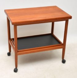1960's Vintage Danish Teak Drinks Trolley